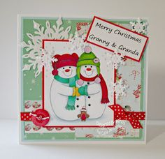 Confessions of a Papersniffer: Cutie Pie DT Card - Snowmen Only