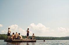 Maine Wedding - swimming time!