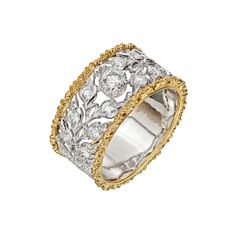 "Betteridge: Buccellati ""Libra"" 18k Gold & Diamond Band Ring"