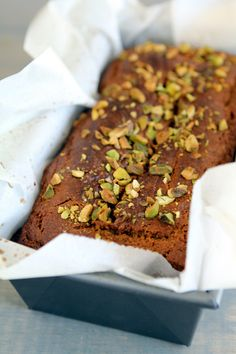 Gluten-free Pumpkin Pistachio Bread - I will make without any sugar (use applesauce, stevia, or Grade B Maple Syrup instead)