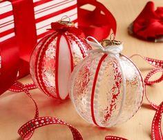 Gallery Glass Ribbon DIY Ornaments.
