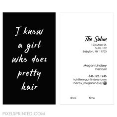Hair salon cards unique hairstylist business cards salon business hairstylist business cards reheart Choice Image