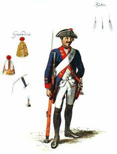 SOLDIERS- Menzel: SYW- Prussia: Prussian Infantry Regiment No. 14 von Lehvaldt, by Adolph Menzel.