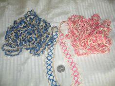 Vintage Trim Lace Pink  Blue Like Crochet or Tatting 10 by twysp2, $25.00