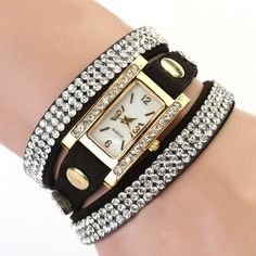 nice Women's Vintage Square Dial Rhinestone Weave Wrap Leather Bracelet Wrist Watch - For Sale Check more at http://shipperscentral.com/wp/product/womens-vintage-square-dial-rhinestone-weave-wrap-leather-bracelet-wrist-watch-for-sale/