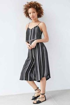 Silence + Noise Yarn-Dye Stripe Set Culotte Pant - Urban Outfitters
