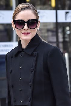 Olivia Palermo is seen arriving at Miu Miu fashion show during the Paris Fashion Week Womenswear Fall/Winter 2017/2018 on March 7 2017 in Paris France