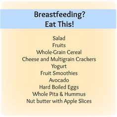 yummy choices for boob food mommas