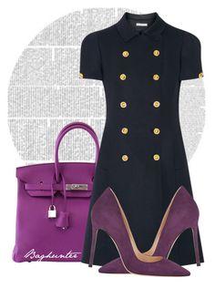 """Purple"" by budding-designer ❤ liked on Polyvore featuring мода, Hermès, Miu Miu и Gianvito Rossi"