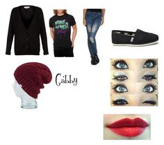 """""""gabby"""" by foreveritsyours ❤ liked on Polyvore featuring TOMS and Coal"""