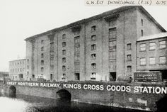 "Caption: ""Great Northern Railway Kings Cross Goods Station on the Regent's Canal"""