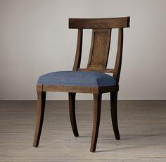 "Klismos Fabric Side Chair KLISMOS FABRIC SIDE CHAIR $325 - $495 REGULAR $243 - $371 MEMBER 20""W x 23""D x 35""H"
