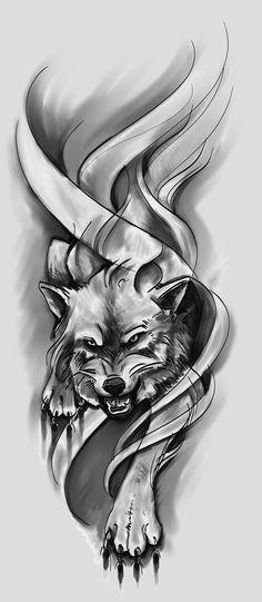 Wolf Design Sketch by Green-Jet.- Wolf Design Sketch by Green-Jet.deviant … on … - Wolf Sleeve, Wolf Tattoo Sleeve, Lion Tattoo, Sleeve Tattoos, Wolf Tattoo Design, Wolf Design, Wolf Tattoo Back, Small Wolf Tattoo, Tattoo Wolf