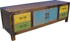 Gekleurd TV meubel | TV LCD plasma meubelen | www.Houtmijn.nl