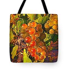 Tote Bags - Grapes Tote Bag by Pamela Walton