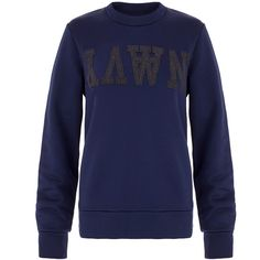 Wood Wood Maya Navy Sweatshirt ($81) ❤ liked on Polyvore featuring tops, hoodies, sweatshirts, navy, navy sweatshirt, navy sweatshirt hoodies, sweat shirts, blue top and crewneck sweatshirt