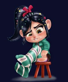Vanellope - Sit Still Look Pretty by artistsncoffeeshops. Vanellope von Schweez is a lead character from the Disney movie Wreck-It Ralph. Sit Still Look Pretty, How To Look Pretty, Disney Wiki, Disney Fan Art, Vanellope Y Ralph, Resident Evil, Vanellope Von Schweetz, Girl Cartoon Characters, Mickey Mouse Wallpaper