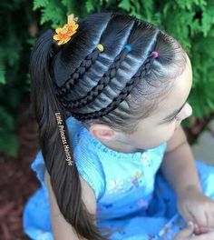 All of these hairstyles are fairly easy and are good for beginners, quick and simple toddler hair styles. Lil Girl Hairstyles, Kids Braided Hairstyles, Princess Hairstyles, Pretty Hairstyles, Children Hairstyles, Fishtail Hairstyles, Curly Hair Styles, Natural Hair Styles, Girl Hair Dos
