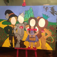 Wizard of OZ photo prop 4ft by 3ft painting on canvas.