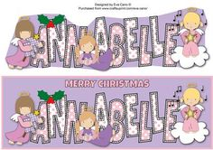 Christmas Angels ANNABELLE large dl on Craftsuprint by Designer Eva Cano