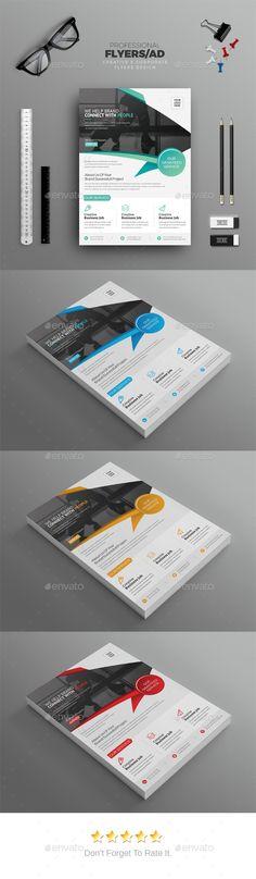 Corporate Flyer Template PSD #design Download here: https://graphicriver.net/item/corporate-flyer/17646461?ref=ksioks