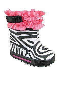 Nursery Rhyme® Zebra Fashion Boot for babies #belk.com