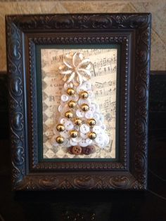 Button Tree With Vintage Jewelry Tree Topper $29.95 on ebay
