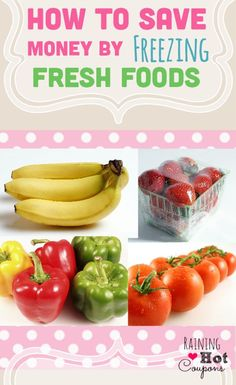 How to Save Money by Freezing Fresh Foods RainingHotCoupons.com freezer meal ideas save money on groceries