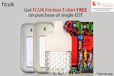 #NykaaOffers #FCUK  Get a free FCUK Friction T-shirt free with a purchase of a single EDT of 100ml.  Shop now : http://www.nykaa.com/brands/fcuk.html