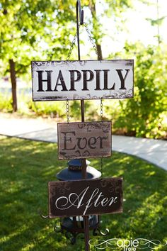 little sayings like these lining the aisle or walk up to the ceremony