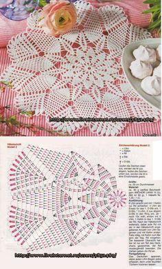 Free Crochet Doily Patterns, Crochet Doily Diagram, Crochet Lace Edging, Crochet Wool, Crochet Circles, Crochet Art, Thread Crochet, Crochet Designs, Crochet Crafts