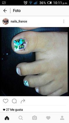 Uñas French Tip Nail Designs, French Tip Nails, Summer Toe Nails, Toe Nail Art, Eve, Charlotte, Ideas, Fairy, Work Nails