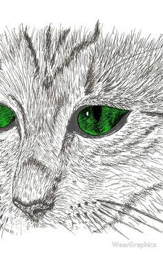 Cat muzzle green eyes