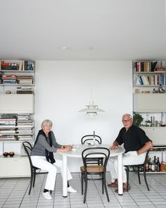 Dieter Rams and his wife at their home in Kronberg near Frankfurt, Germany.