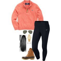 A fashion look from November 2015 featuring NIKE, Michael Kors watches and Henri Bendel earrings. Browse and shop related looks.