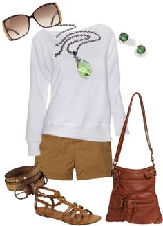 """""""brown & white"""" by leiton13 ❤ liked on Polyvore"""