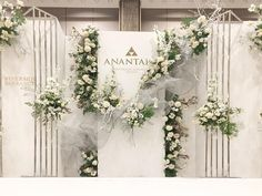 Choosing The Flower Arrangements For Church Wedding Banquet Decorations, Wedding Stage Decorations, Backdrop Decorations, Flowers Decoration, Backdrops, Wedding Backdrop Design, Wedding Reception Backdrop, Wedding Mandap, Wedding Receptions