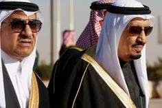 Saudi Arabia's Deputy Crown Prince Mohammed bin Nayef (L) arrives with his uncle King Salman (R) to greet U.S. President Barack Obama at King Khalid International Airport in Riyadh, in this January 27, 2015 file photo. King Salman has designated Mohammed to attend a Gulf Arab summit with U.S. President Barack Obama, the state news agency, SPA, reported on May 10, 2015, just two days after the White House said the monarch would attend the gathering. REUTERS/Jim Bourg/Files
