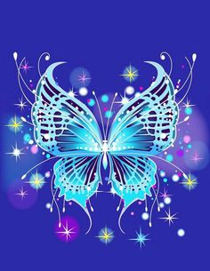 Beautiful Blue Sparkly Butterfly!