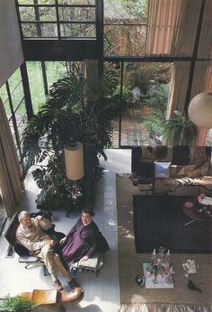 "Charles and Ray Eames enjoy a rare Sunday morning together in their home near Santa Monica. The couple built the house, ""a pleasant place for living and working,"" in 1949. Charles died in 1978 after living more than half his 71 years in California. He once said, ""Just being by an ocean is comforting."" America's Sunset Coast 