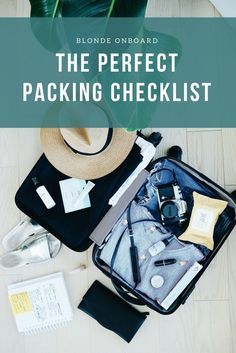 Use this checklist when preparing for your next trip and never forget a thing again!