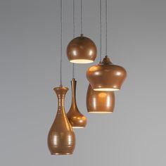 Pendelleuchte Drops 5 Kupfer #Pendelleuchte #Lampe #Esstischlamme #Wohnzimmerlampe