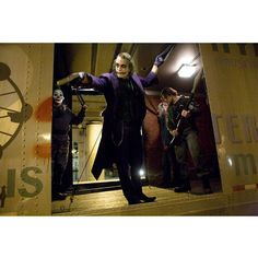 The Joker Dark Knight Movie Shooting From Truck Gallery Print