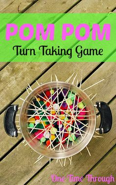 Playing turn-taking games with your kids is a great way to help them learn to share. The Pom Pom Turn-Taking Game is fun and a great way to work on math.