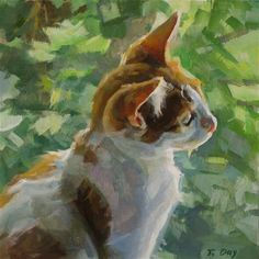 """Daily Paintworks - """"Bird Watching"""" by Taryn Day"""