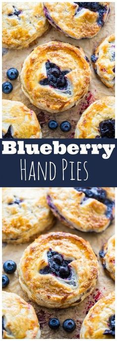 Sweet and Simple Blueberry Hand Pies! Perfect for serving a crowd. Step-by-step photos make it easy!!!
