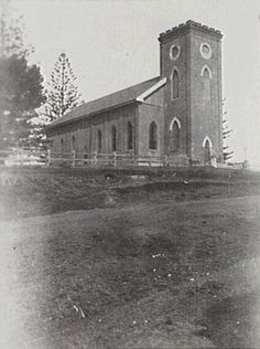 St Thomas Anglican Church at Port Macquarie in 1927.A♥W