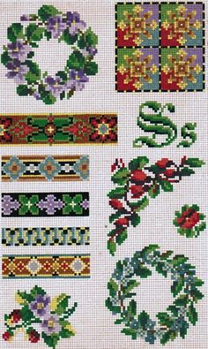 small Victorian woolwork patterns