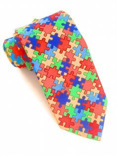 Colourful Jigsaw Tie #VanBuck #Tie #Colourful #Jigsaw #NeckTie #MensFashion #Accessories http://www.fabties.com/ties/novelty-ties/colourful-jigsaw-tie.html