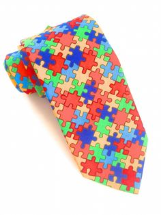 Colourful Jigsaw Tie #VanBuck #Tie #Colourful #Jigsaw #NeckTie #MensFashion #Accessories http://www.fabties.com/ties/novelty-ties/colourful-jigsaw-tie.html